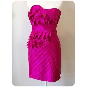 Phoebe Couture ruffle Evening Dress Pink Size 6
